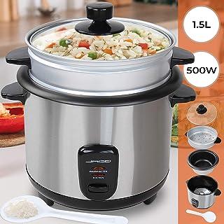 Jago - Arrocera para cocinar con capacidad aprox. de 1,5 litros y con la olla para cocinar al vapor