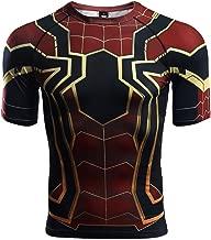 Short Sleeve Spider-Man Compression Shirts