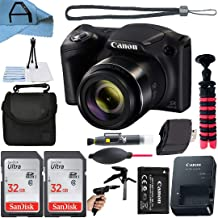 Canon PowerShot SX430 is 20MP Digital Camera 45x Optical Zoom with 2 Pack SanDisk 32GB Memory Card, Gadget Bag Case, Tripo...