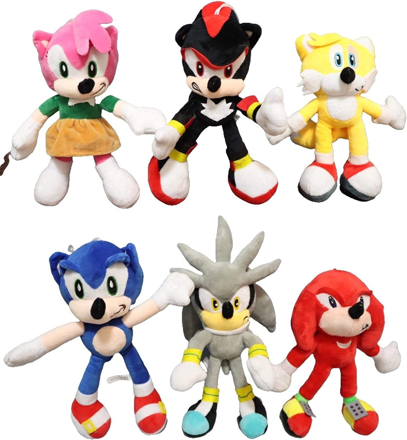 Sonic anime doll 6pcs lot plush sonic Gifts Bombing free shipping toy Anime