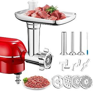 PHISINIC Hachoir à Viande, Accessoire pour Robot Pâtissier, Aide de cuisine pour saucisses