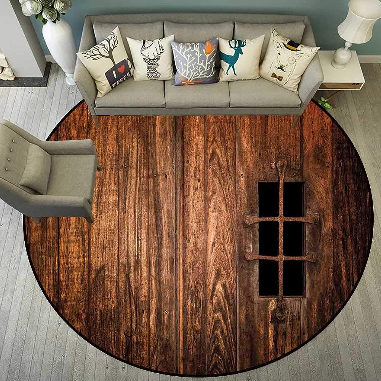 Circularity Floor mat Baby high Chair Round Indoor Floor mat Entrance Circle Floor mat for Office Chair Wood Floor Round mat for Living Room Pattern 4'11  Diameter