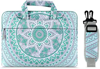 MOSISO Laptop Shoulder Bag Compatible with MacBook Pro/Air 13-13.3 Inch, Notebook Computer, Canvas Mandala Pattern Protect...