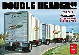 AMT 1132 1/25 Tandem Van Trailers, Double Header Model Kit