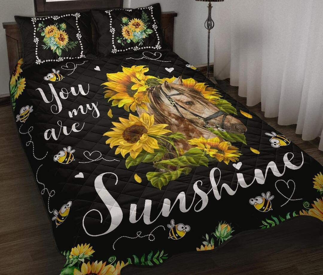 Personalized Sunflower Horse 35% OFF Quilt Gift Lovers unisex Your All-Sea for