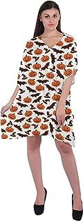 RADANYA Women Halloween Casual Kaftan Loose 3/4 Sleeve Cotton Dress Caftan