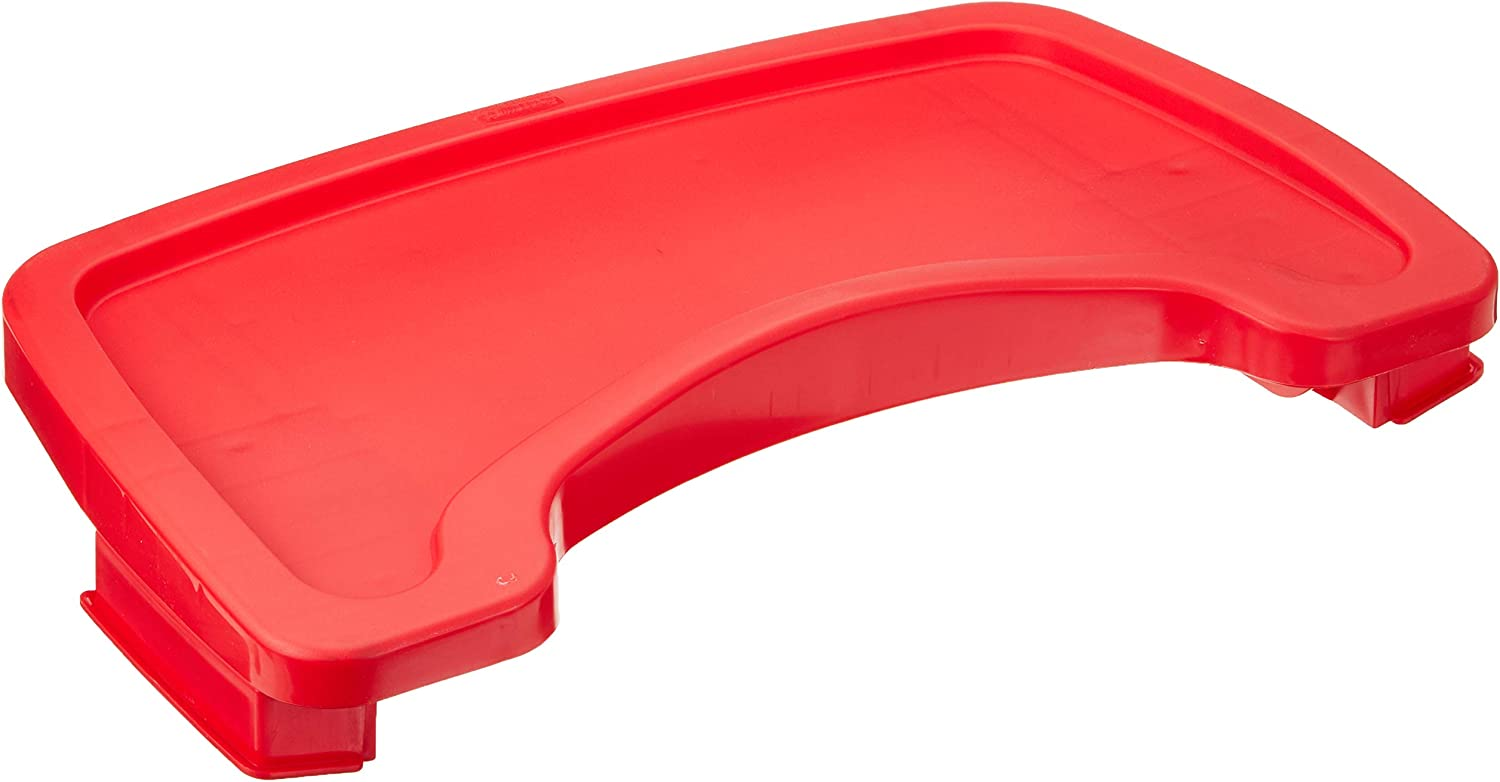 Rubbermaid Commercial Products Sturdy Baby Chair Tray Red