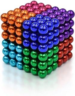 Magneticas, Bola Buck (Cuadrada) Magnética De 5 Mm Bola Cubo De Magnético De Plata De Rubik Ideales para La Educación En El Hogar En La Escuela De La Oficina 216pcs