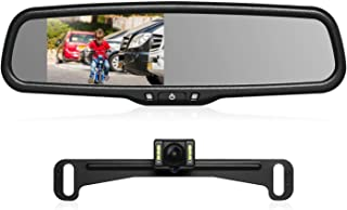 AUTO-VOX T2 Backup Camera Kit,OEM Rear View Mirror Monitor with IP68 Waterproof Rear View Camera,Super Night Vision for Pa...