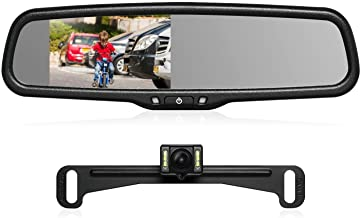 Emblem Backup Camera /& 4.3 Mirror Monitor for 2004-2014 Ford F150 /& 2008-2016 F250//350//450 Simply The Best Camera!