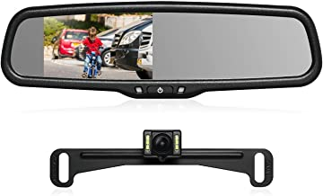 AUTO-VOX T2 Backup Camera Kit,OEM Rear View Mirror Monitor with IP68 Waterproof Rear View Camera,Super Night Vision for Parking & Reversing