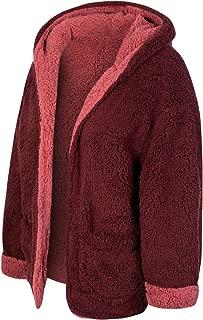 MixMatchy 女式休闲保暖蓬松人造毛皮轻质开衫夹克背心