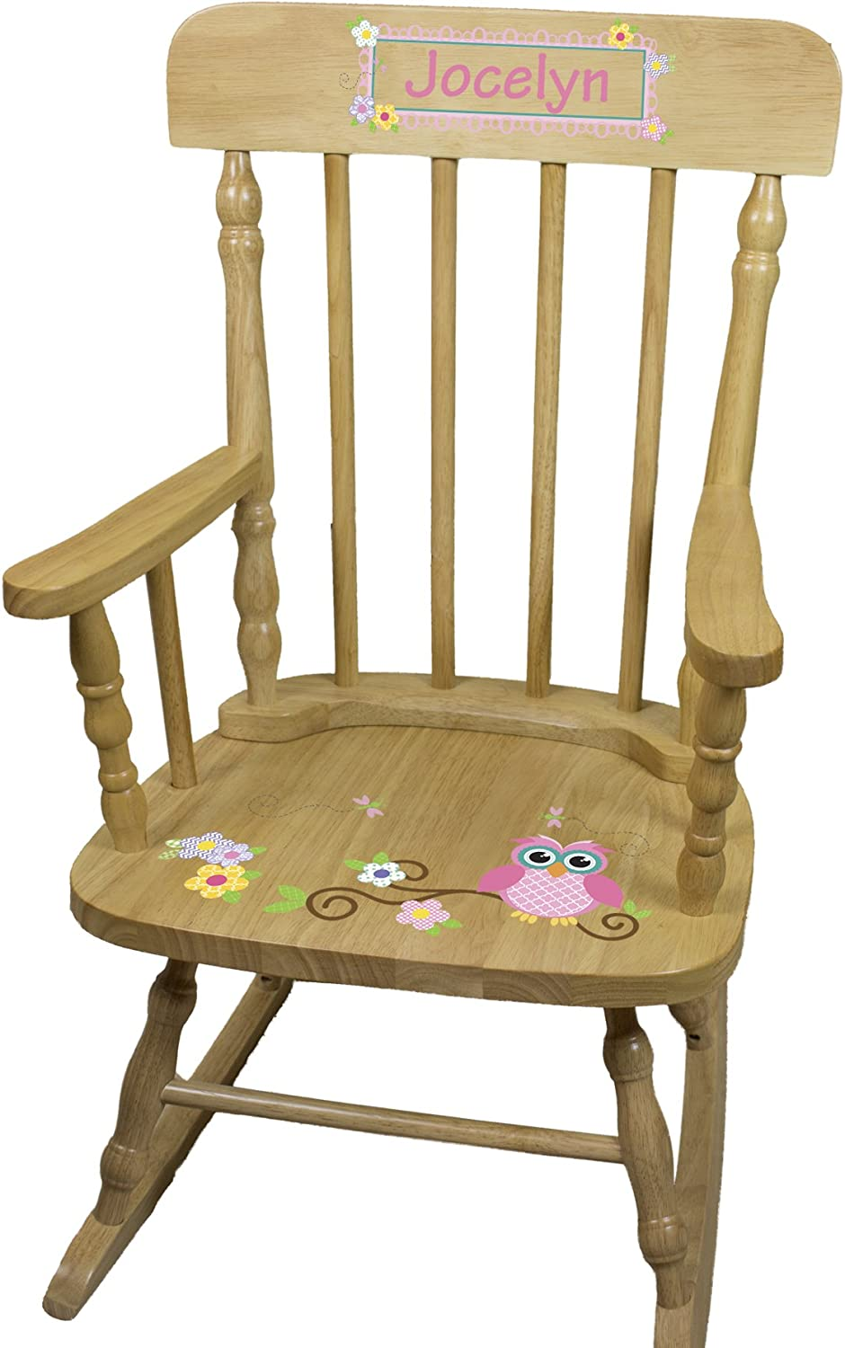 Special price Personalized Child's Wood Chair Owl New York Mall Rocking