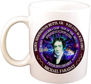 Michael Faraday Scientist Born Virgo/Libra Cusp Zodiac Metal Pig Cup/Mug