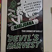 Marijuana  Devil Harvest Campy Poster Repo FREE S//H in USA