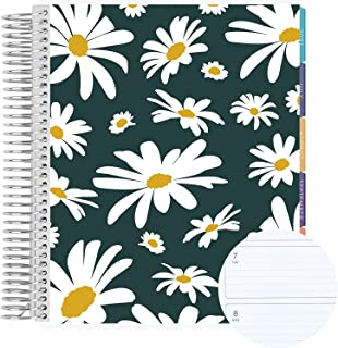 """$66 » 18 Month 7"""" x 9"""" Spiral Coiled Horizontal Weekly Life Planner/Agenda (July 2021 - December 2022). Dancing Daisies Flexible..."""