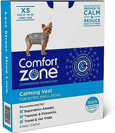 Comfort Zone Chaleco calmante para Perros truenos y ansiedad | Muy pequeño: Amazon.es: Productos para mascotas
