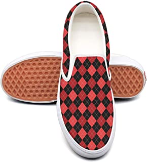 Man Red Checkerboard Paper Boys Sneakers for Mens Cool Air Running Shoes