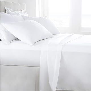 1000TC Egyptian Cotton Sheet Set (Flat Sheet, Fitted Sheet, Two Pillowcases) Single/King Single/Double/Queen/King Size (Qu...