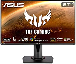 """ASUS TUF Gaming VG279QM 27"""" HDR Monitor, 1080P Full HD (1920 x 1080) Fast IPS, 280Hz, G-SYNC Compatible, Extreme Low Motio..."""