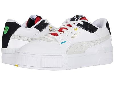 PUMA Cali Sport WH (Puma White/Puma Black/High Risk Red) Women