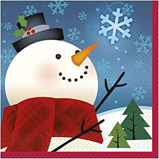 Joyful Snowman Holiday Beverage Napkins, 16ct