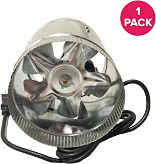 Think Crucial Durable Silver Inline Fan, 6-Inch, Part # DF6; Perfect for Grow Rooms Cigarette Smoke, Foul Odor Emissions, Pet Dander, Plant Emissions, Allergenic Pollutants & More