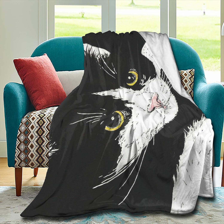 Dozxxthsa Tuxedo Cat Blanket Artistic Comfortable お買い得品 Lightweight メーカー再生品 an