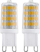 EGLO LED G9 lamp set van 2, LED penfitting, 2 LED-lampen, elk 3 watt (komt overeen met 33 watt), 360 lumen, G9 LED warmwi...