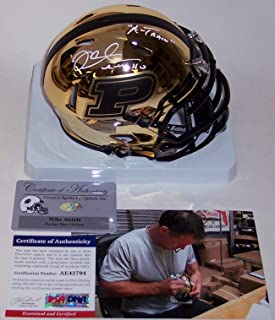 Mike Alstott Autographed Hand Signed Purdue Boilermakers Chrome Riddell Speed Mini Football Helmet - with