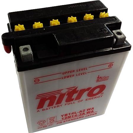 Batterie Yuasa Yb14l A2 Dc Offen Ohne Säure 12v 14ah Cca 175a 136x91x168mm Für Kawasaki Gpz500 S Baujahr 2000 Auto