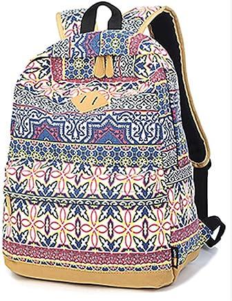 767fc5adf311a Frauen Roman Muster Segeltuch-Rucksack Teenager-Alter Mädchen Schultasche  Freizeit-Rucksack (Stil