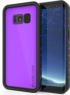 Galaxy S8 Waterproof Case, Punkcase [StudStar Series] [Slim Fit] [IP68 Certified] [Shockproof] [Dirtproof] [Snowproof] Armor Cover for Samsung Galaxy S8 [Purple]
