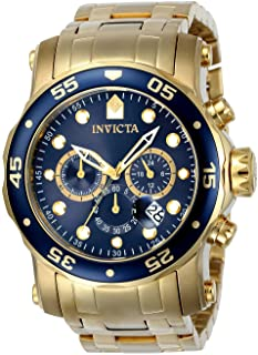 Invicta Mens Quartz Watch, Analog Display and Stainless Steel Strap 23651