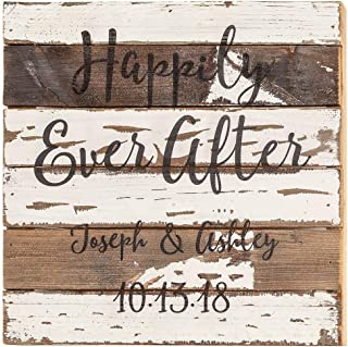 reclaimed wood wedding signs