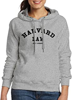 Women's Harvard Law Tank Top Just Kidding 1 Hooded Sweatshirt Ash