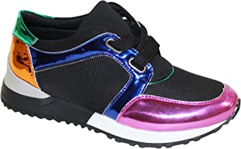 Wanted Women's Indie Metallic Color Block Retro Dad Fashion Jogger Sneaker