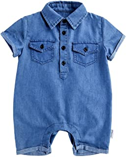 Baby Boy Jeans Romper Infant Cotton-Denim Outfit