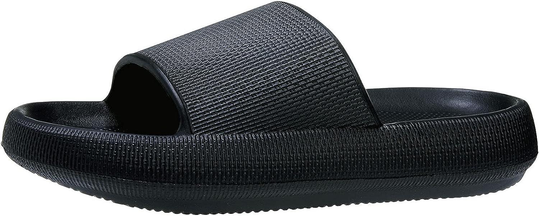 Colorxy Pillow Slides Slippers for Women Men Non Slip Outdoor Shower Slides Shoes Bath Slippers