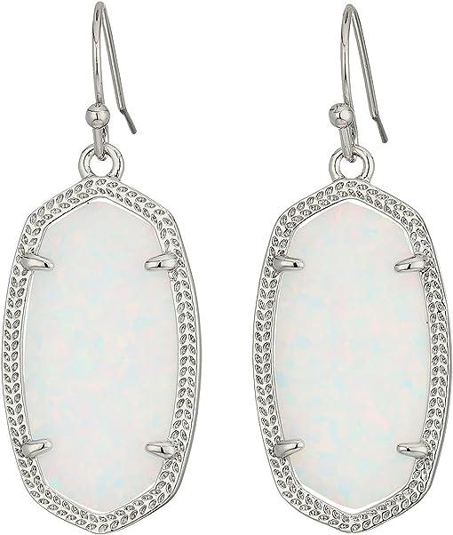 Rhodium/White Kyocera Opal