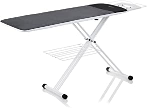 Reliable The Board 300LB 2-in-1 Pressing Table and Ironing Board with 2 Covers, 19 in. x 60 in - 67in Extended Length, Laundry Rack, Ironing Station, Heavy-duty Tube Frame - Made in Italy