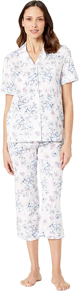 Navy Stretch Floral