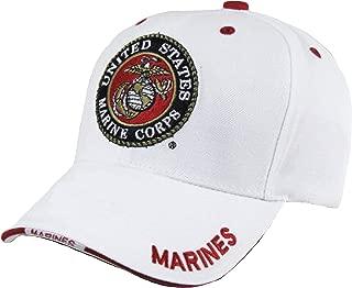U.S. Marine Corps USMC Insignia HAT White Marines US Veteran Baseball CAPS