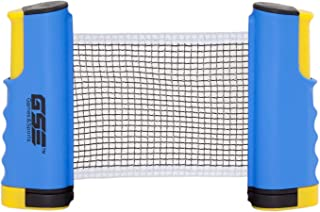 GSE Games & Sports Expert Anywhere Retractable Table Tennis Net and Post. Adjustable Ping Pong Net (4 Colors)