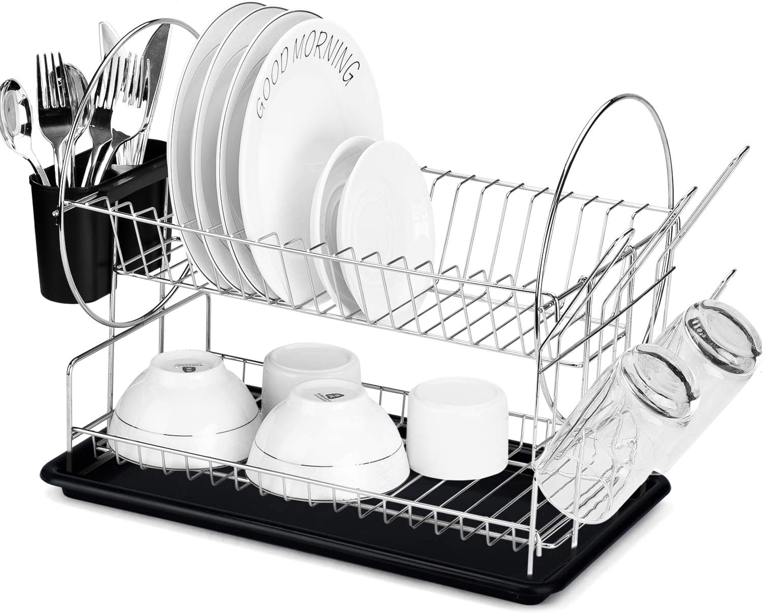 Syntrific Dish Drying Rack Ranking TOP16 2 Tier Holder Utensil Sales for sale with