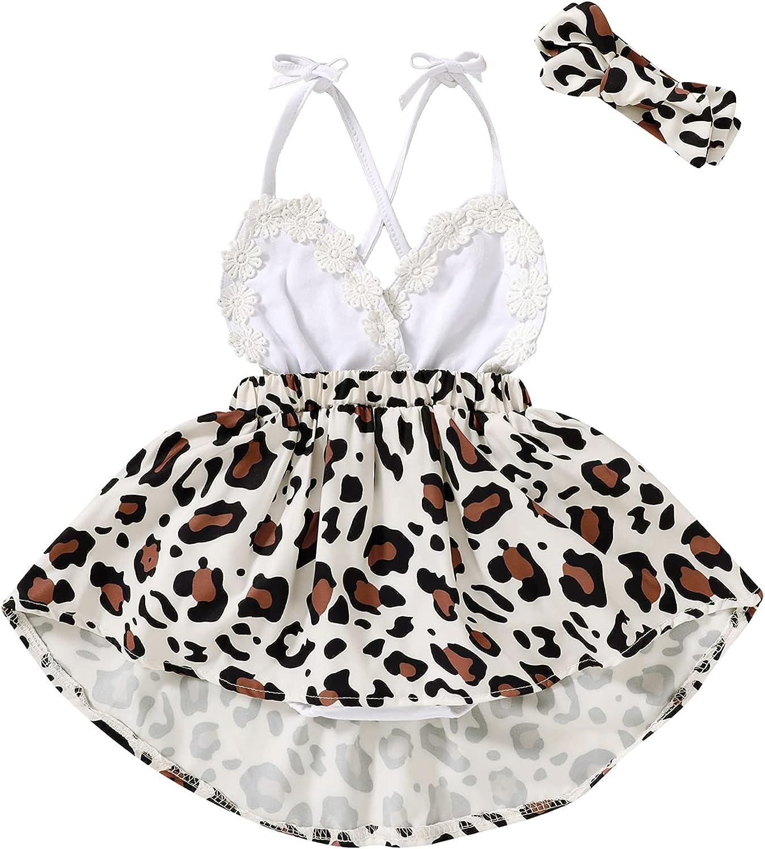 Newborn Infant Baby Kansas City Mall Girl Attention brand Summer Leopard Floral Clothes Fla Dress