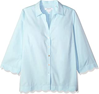 Foxcroft Women's Lilith Essential Non-Iron Scallop Hem Shirt