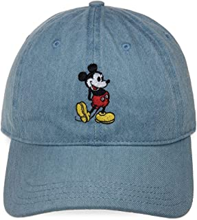 Disney Mickey Mouse The True Original Denim Baseball Cap for Adults Denim