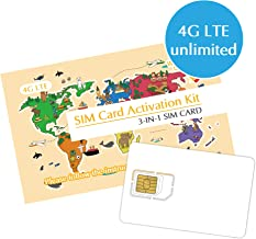 Korea SIM Card 5Days Unlimited Data/4G-LTE High-Speed Broad Coverage