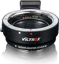VILTROX EF-EOS M Adaptador de Lente con Control de Apertura, Enfoque Automático Convertidor de Lente para Canon EF Lens a Cámaras Canon EOS-M (Montura EF-M) M M2 M3 M5 M6 M10 M50 M100